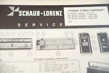 Service Manual-Istruzioni per Schaub-Lorenz Touring stereo component, 932701.9327