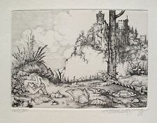 "CHARLES BRAGG ""THE CAPTURE"" Hand Signed Limited Edition Etching CAMELOT SERIES"
