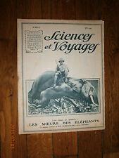 Sciences et Voyages N°204 juil 1923-tremblement terre Chine,buffle,éléphan,croco