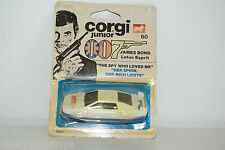 CORGI TOYS JUNIOR 60 LOTUS ESPRIT JAMES BOND MINT BOXED RARE SELTEN RARO