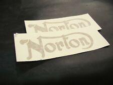 Norton Tank Decals     Gold