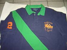 "MENS RALPH LAUREN NAVY-GREEN ""DUAL MATCH"" S/S POLO SHIRT SIZE L $98"