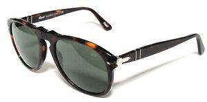 Persol 649 52 24/31 Havana Sunglasses Lunettes de Soleil Brun