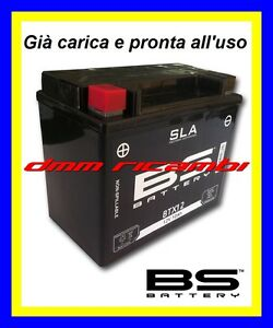 Batteria BS SLA Gel KAWASAKI ER-6N 650 08>09 carica pronta all'uso ER6 2008 2009
