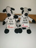 Chick Fil A Eat Mor Chikin Cow Lot Of 2 Beanie Bean Bag Plush Stuffed Animal Toy