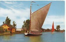 Norfolk Postcard - Wherry' Hathor - Norfolk Broads - Ref ZZ4658