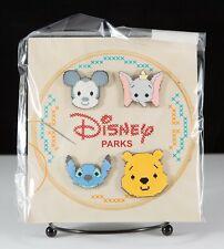 New Disney Cross Stitch Booster Pin Set of 4 Pins - Mickey, Dumbo, Pooh & Stitch