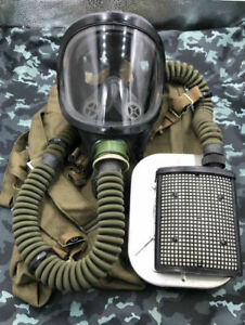 Authentic Russian GAS MASK PFL Soviet USSR Russian Air Fighter Pilot Full Set