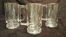 Christmas Holiday Gold Mug Set-Set of 4 by Indiana Glass