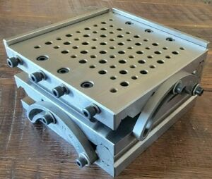 """Precision Owner-Made COMPOUND SINE PLATE 6"""" x 6"""" EXCELLENT with box"""