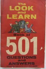 Rare CHILD QUIZ & PUZZLE BOOK THE LOOK AND LEARN BOOK OF 501 QUESTION & ANSWERS