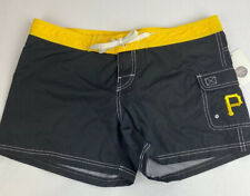 NWT MLB Pittsburgh Pirates Nylon Shorts Black Size Medium (625)