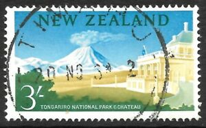NEW ZEALAND 1960 3s watermark side inverted, FU CDS. SG 799w. Cat.£100.