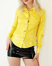 Sexy Latex Women Tops Shirts Rubber Skirts Club Wear Party New Gummi 0.4mm
