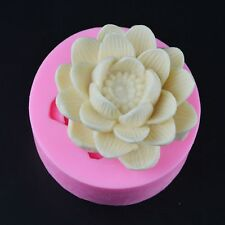 Lotus Carving Clay Fondant Silicone Mould Salt Cake Mold