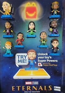MCDONALD'S 2021 MARVEL ETERNALS HAPPY MEAL TOY COMPLETE SET. READY TO SHIP!!