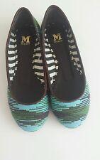 Missoni leather trimmed ballet flats size UK 3 EU 36 RRP £190