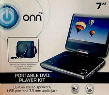 """ONN 180°Swivel Portable DVD Player Kit~7""""Screen~Buit-In Stereo Speakers~USB Port"""