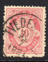 Norway 10 Ore  Stamp c1877-78 Used (882)