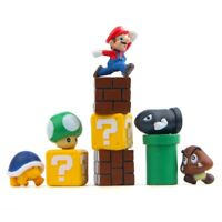 10Pcs Super Mario Aquarium Ornament Cartoon Fish Tank DIY Decoration Gifts Set
