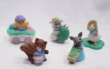 Lot of 5 Hallmark Easter Merry Miniatures Includes Goose in Bonnet