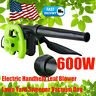 Perfect Electric Handheld Leaf Blower Lawn Yard Suction Sweeper Vacuum Bag Sale