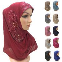 Women Head Scarf Headwear Muslim Hijab Wrap Shawl Scarf Arab Amira Headscarf