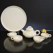 Antique Chinese Dehua Porcelain Tea set, Blanc De Chine, White, Republic