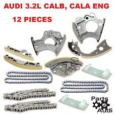Timing Chain Kit Timing Guide Rails Tensioners For Audi 3.2L CALB,CALA Eng 12pcs