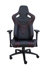CIPHER Racing Seat Black Leatherette w/Red Diamond Stitching Office Gaming Chair