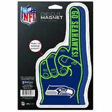 "Wincraft NFL Seattle Seahawks 9""  #1 finger Logo Car refrigerator Magnet new"