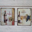 Vintage Francés metal Placa Chateau la claire O Pinot Rojo Blanco Vino
