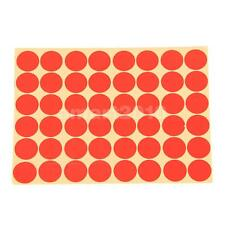 15 Sheets/ 720Pcs 25mm Round Dot Stickers Red Circles Circular Sticky Labels