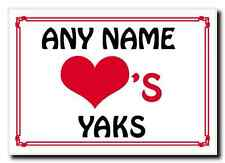 Love Heart Yaks Personalised Jumbo Magnet