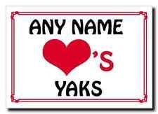 Love Heart Yaks Personalised Jumbo Magnet