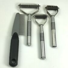 Lot of 4 OSTER Pet Dog Grooming Undercoat Coat Hair Shedding Rakes & Comb