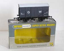 WRENN RAILWAYS - WAGON - (W5058) GWR Y10 8T FRUIT VAN (DK GREY) PERIOD 4 BOX