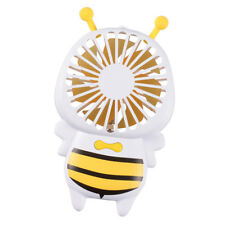 Rechargeable LED Fan Handheld Personal Fan Long Battery Standby Time_Yellow