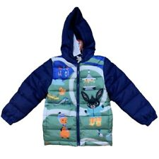 Boys Kids Children Bing Fleece Lined Hooded Padded Winter Jacket 2-6 Yrs