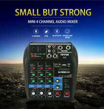 Mini USB Audio Mixer 4 Channel Professional Powered Mixer power mixing Bluetooth
