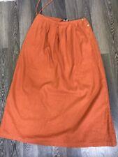 Vintage Gudrun Sjoden Sjöden Orange Maxi Skirt Size L/XL 55% Linen