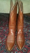 NWOB Tall Nocona Boots Brown Antelope Leather Cowboy Boots - US Size 12 D (Mens)