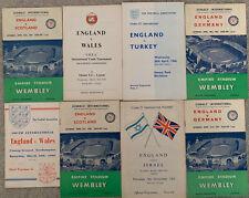More details for 8 x england u23 / youth / school boy programmes