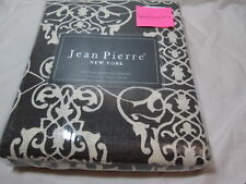 """New Jean Pierre New York Adisson Printed Fabric Shower Curtain 72""""x72"""" Charcoal"""