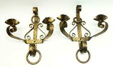Vintage Cast Iron Wall Sconce Candle Holders
