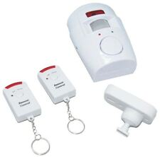 Wireless PIR Motion Sensor Alarm With 2 Remote Controls Shed Home Garage Caravan