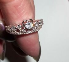 Beautiful Cubic Zirconia Heart Ring Size 8, Giftboxed