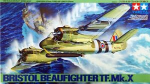 Tamiya 61067 1/48 Scale Aircraft Model Kit WWII RAF Bristol Beaufighter TF Mk.X