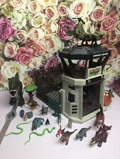 Dino Valley Control Station Playset Enclosure - Dinosaurs Figures Helicopter