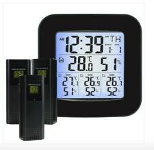 Wireless Weather Station Thermometer with 3 Indoor Outdoor Sensor Wireless